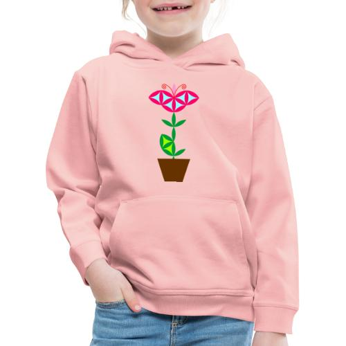The Flower Of Life - Sacred Plants. - Kids' Premium Hoodie