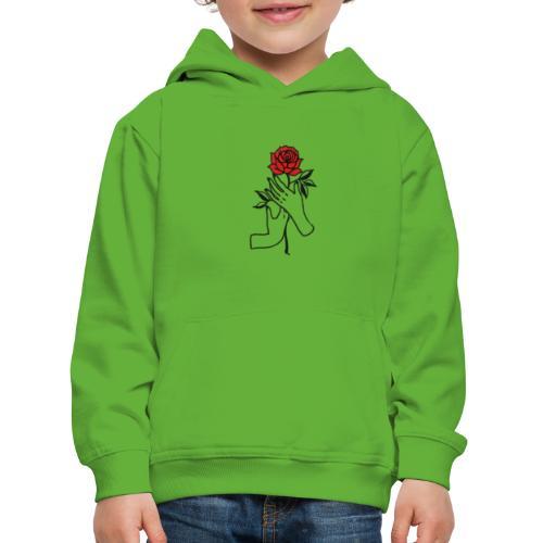 Fiore rosso - Felpa con cappuccio Premium per bambini