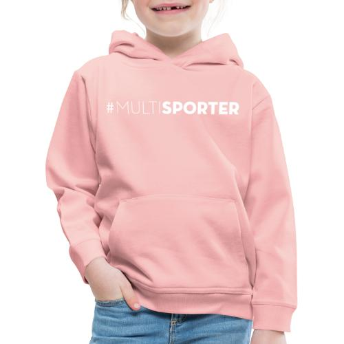 #MULTISPORTER wit - Kinderen trui Premium met capuchon