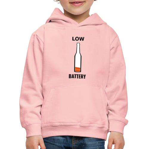 Beer Low Battery - Pull à capuche Premium Enfant