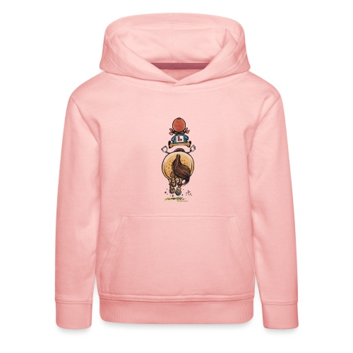 Thelwell Funny Riding Beginner Illustration - Kids' Premium Hoodie
