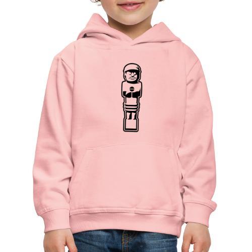 soccer player bw - Kinder Premium Hoodie