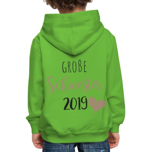Große Schwester 2019 - Kinder Premium Hoodie