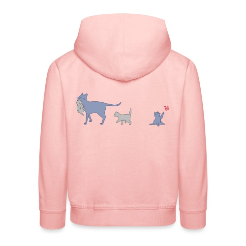 Cats - Felpa con cappuccio Premium per bambini