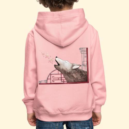 Le chant du loup aux fleurs de cerisier - Pull à capuche Premium Enfant