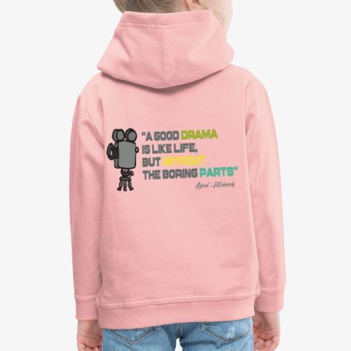 Pasión por el cine - Sudadera con capucha premium niño