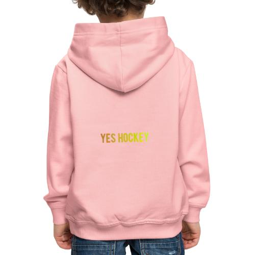 Yes Hockey Logo- Orange - Kids' Premium Hoodie