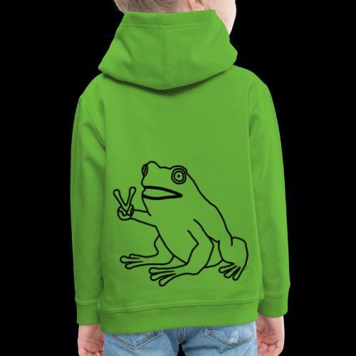 Funny Animal Frog Frosch - Kinder Premium Hoodie