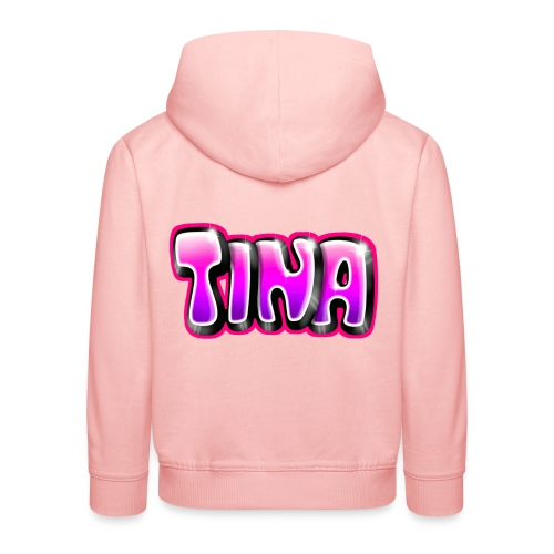 GRAFFITI TAG TINA PRINTABLE ON EVERYTHING PINK - Pull à capuche Premium Enfant