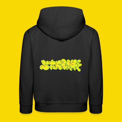 Strange Graffiti - Bluza dziecięca z kapturem Premium