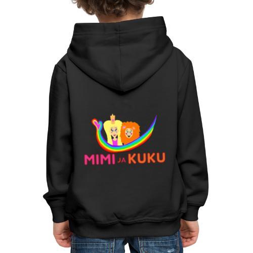 Mimi ja Kuku- sateenkaarilogolla - Lasten premium huppari