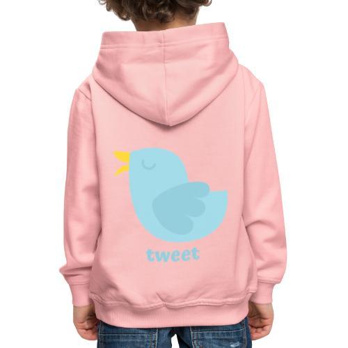 tweet - Premium hættetrøje til børn