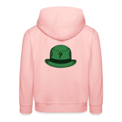 Grüner Rätsel Hut Riddler - Kinder Premium Hoodie