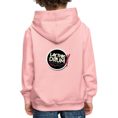 Collection 1/logo rond doré - Pull à capuche Premium Enfant