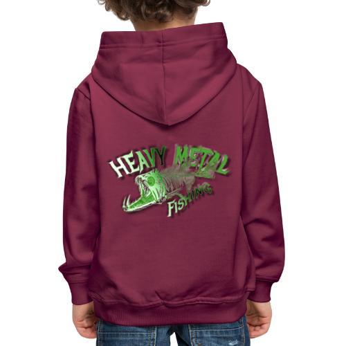 heavy metal alien - Kinder Premium Hoodie