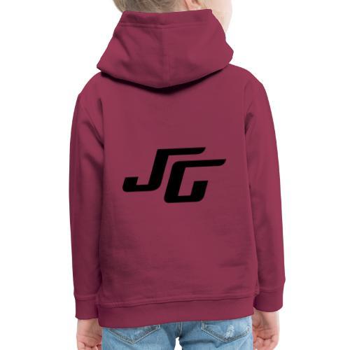 JG Logo schwarz - Kinder Premium Hoodie