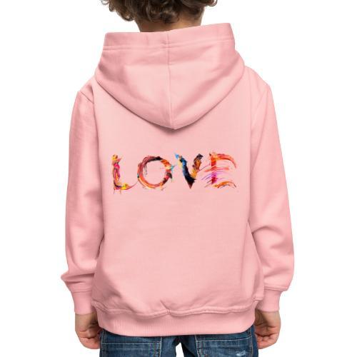 Love - Pull à capuche Premium Enfant