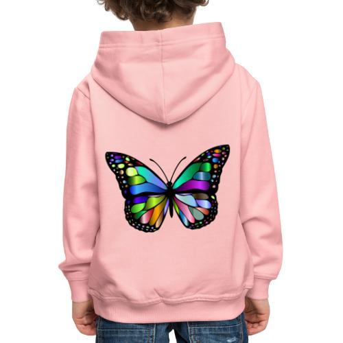 Kolorwy Motyl - Bluza dziecięca z kapturem Premium