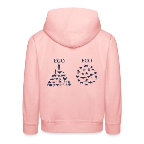 Ego VS Eco - Felpa con cappuccio Premium per bambini