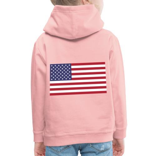 USA flagg - Premium Barne-hettegenser
