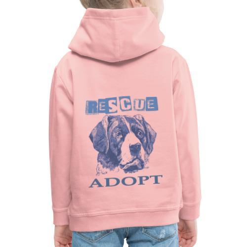 Rescue adopt - Sudadera con capucha premium niño