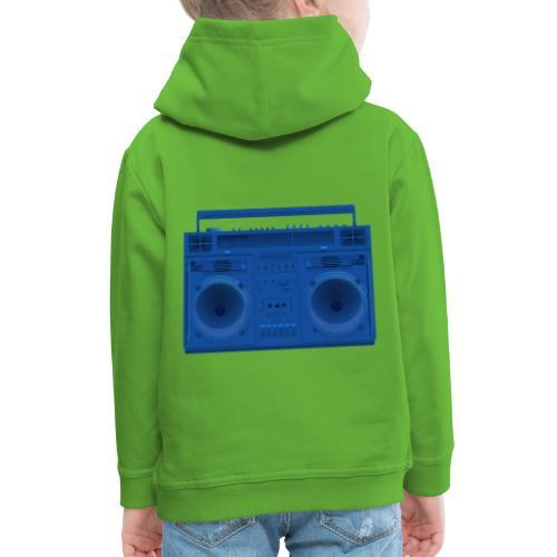 Bestes Stereo blau Design online - Kinder Premium Hoodie