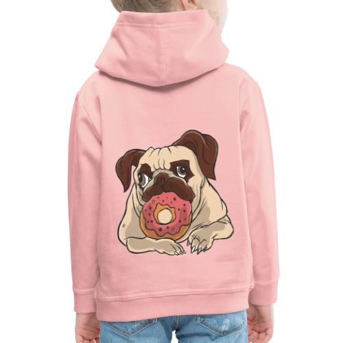 Beste Hund Hunde donut Mops - Kinder Premium Hoodie