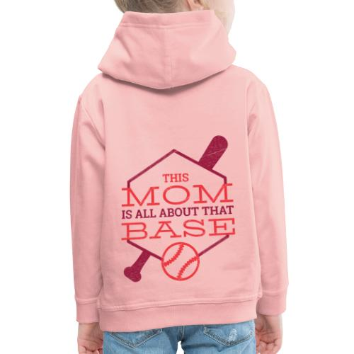 Bestes Baseball Mamma Design - Kinder Premium Hoodie