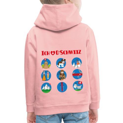 Ich liebe d'Schwiiz - Kinder Premium Hoodie