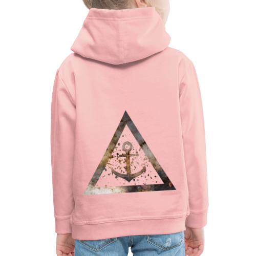 Galaxy Anchor Geometry Triangle - Kinder Premium Hoodie
