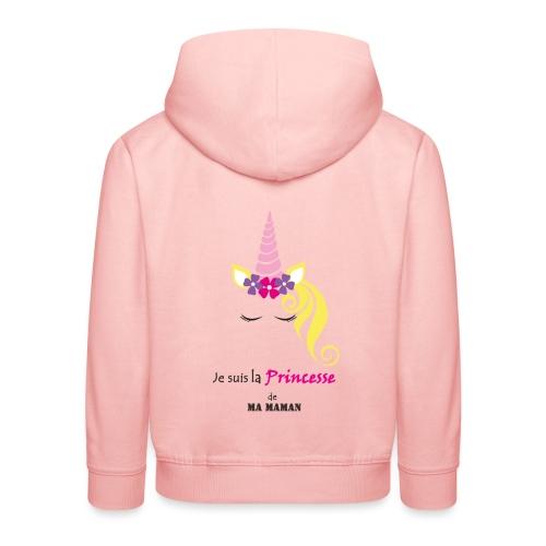 princesse de maman2 - Pull à capuche Premium Enfant