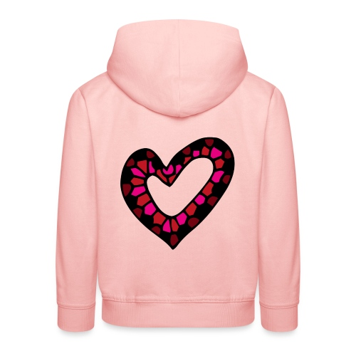 Herz Mosaik Buntglas - Kinder Premium Hoodie