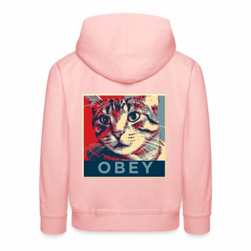 Obey the Cat! - Kinder Premium Hoodie