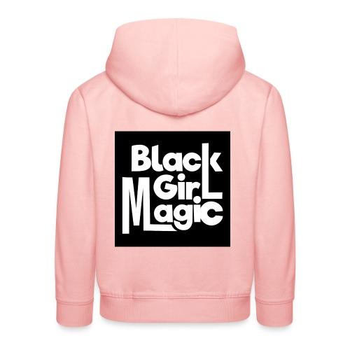 Black Girl Magic 2 White Text - Kids' Premium Hoodie