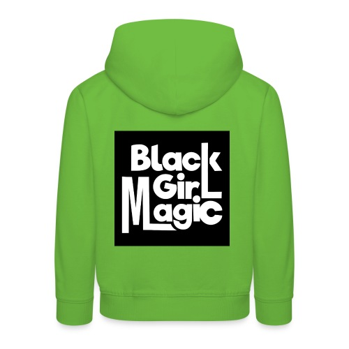 Black Girl Magic 2 White Text - Kids' Premium Hoodie