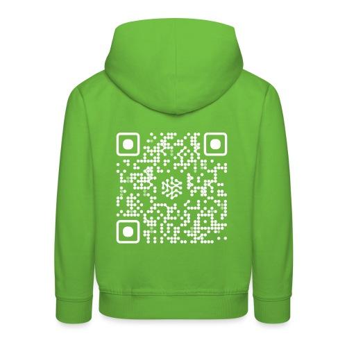 QR Safenetforum White - Kids' Premium Hoodie