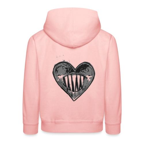 Corazón Negro - Sudadera con capucha premium niño