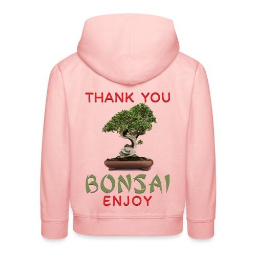 Dziękuję Ci Bonsai - Bluza dziecięca z kapturem Premium