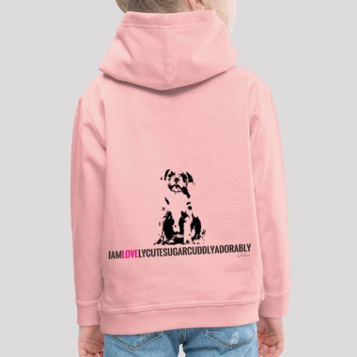 FRANZÖSISCHE BULLDOGE - WELPEN - LOVE - Kinder Premium Hoodie