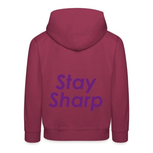 Stay Sharp - Felpa con cappuccio Premium per bambini