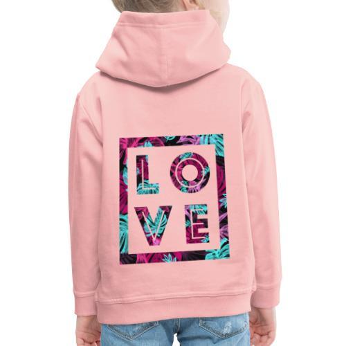 LOVE - Premium-Luvtröja barn