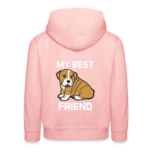 My Best Friend - Hundewelpen Spruch - Kinder Premium Hoodie