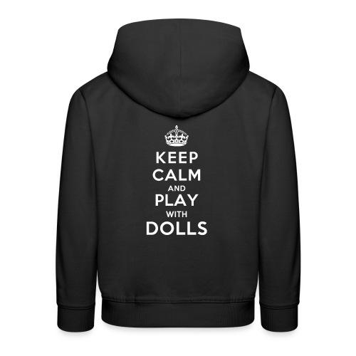 KeepCalmAndDollsVer2 - Kinder Premium Hoodie