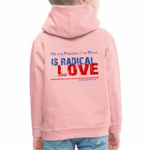 Radikale Liebe blue - Kinder Premium Hoodie