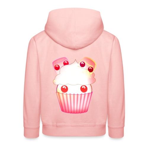 harajuku kawaii cupcake muffins med marshmallows - Kids' Premium Hoodie