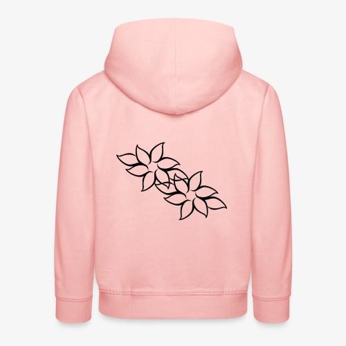 flowers - Premium hættetrøje til børn