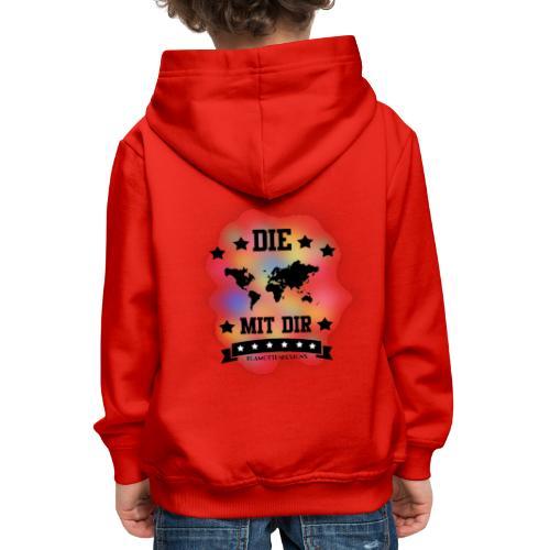 Die Welt mit dir bunt weiss - Klamottendesigns - Kinder Premium Hoodie