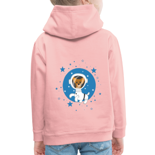 Kleiner Hund im Weltall - Kinder Premium Hoodie