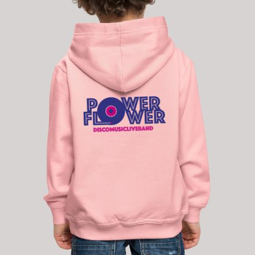 Logo PowerFlower colori - Felpa con cappuccio Premium per bambini