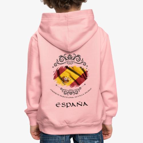 Spain Vintage Flag - Kinder Premium Hoodie